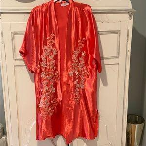 Gorgeous coral kimono from Anthropologie.  One Sz.